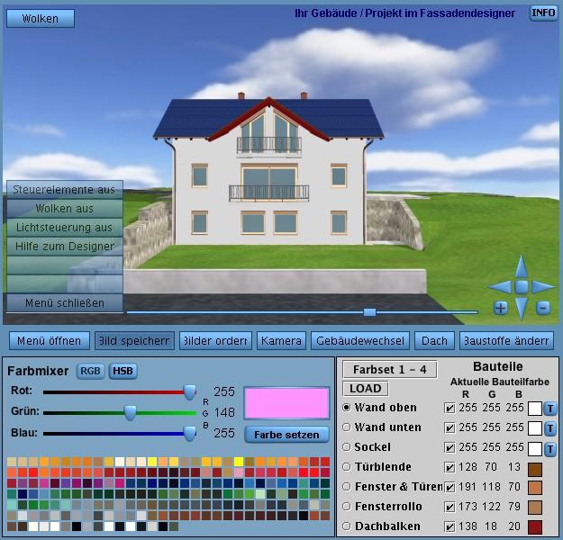 Fenster Konfigurator Software Kostenlos ~ 3D Fassadengestaltung direkt und in Echtzeit am 3D Modell