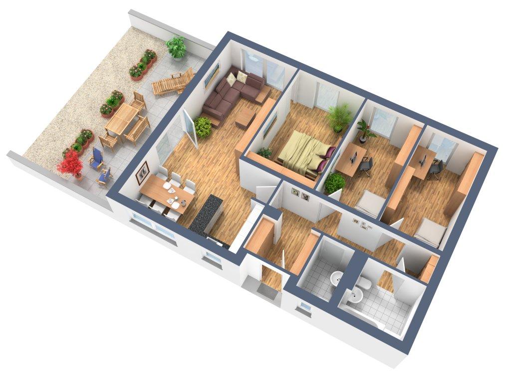 Hauspläne 3d  3D Grundriss