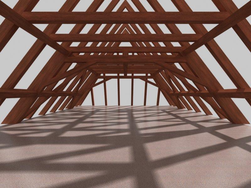 3d fachwerk und 3d dach for Fachwerk winkel