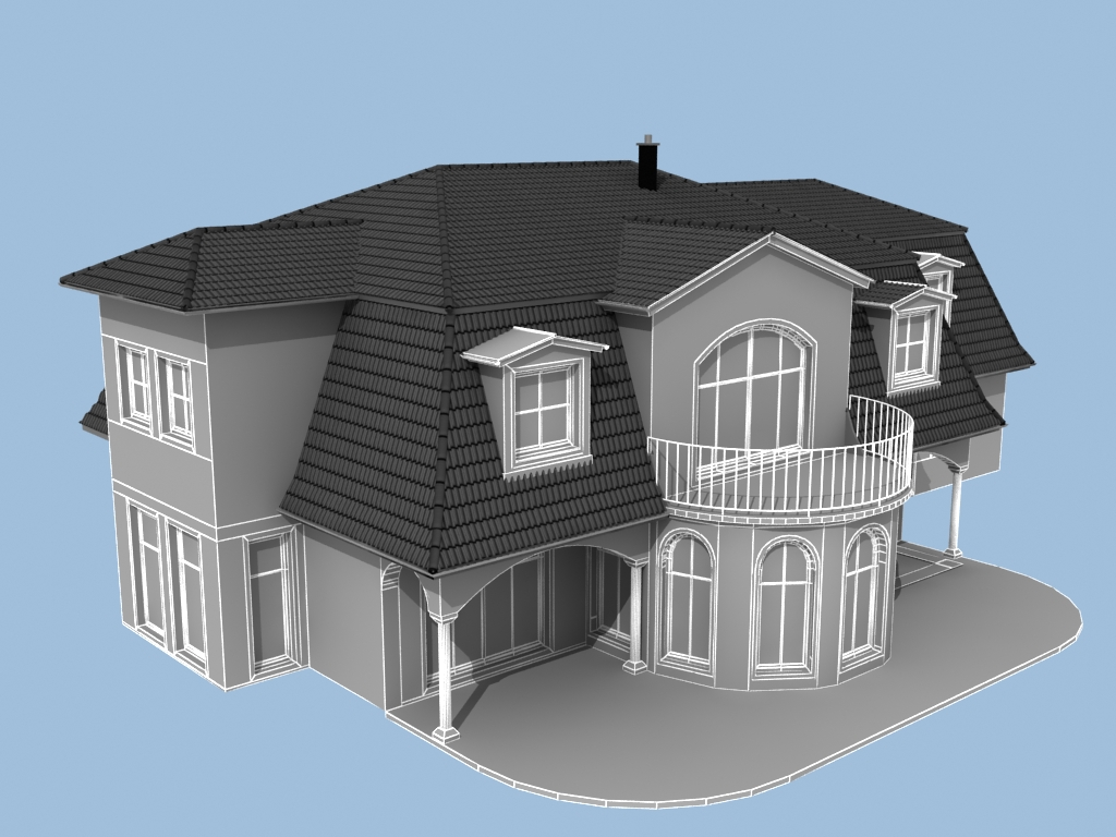 Grundriss Zeichnen 3d Haus